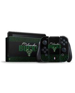 Milwaukee Bucks Elephant Print Nintendo Switch Bundle Skin