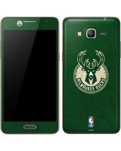 Milwaukee Bucks Green Distressed Galaxy Grand Prime Skin