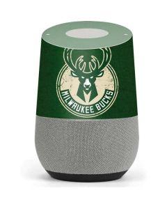 Milwaukee Bucks Green Distressed Google Home Skin