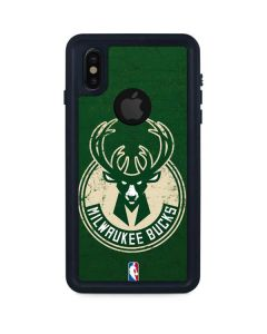 Milwaukee Bucks Green Distressed iPhone XS Waterproof Case