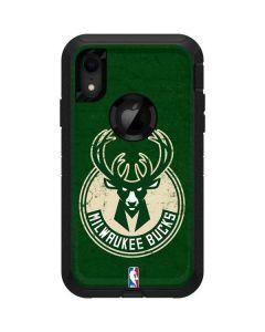 Milwaukee Bucks Green Distressed Otterbox Defender iPhone Skin
