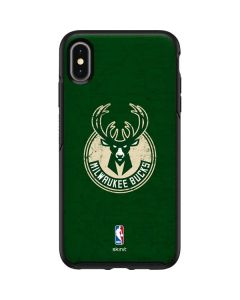 Milwaukee Bucks Green Distressed Otterbox Symmetry iPhone Skin