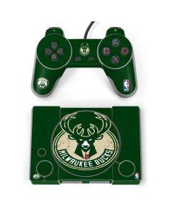 Milwaukee Bucks Green Distressed PlayStation Classic Bundle Skin