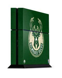 Milwaukee Bucks Green Distressed PS4 Console Skin