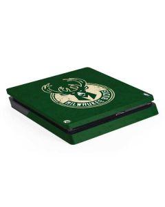 Milwaukee Bucks Green Distressed PS4 Slim Skin
