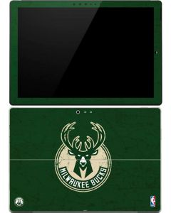 Milwaukee Bucks Green Distressed Surface Pro (2017) Skin