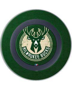 Milwaukee Bucks Green Distressed Wireless Charger Skin