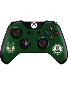 Milwaukee Bucks Green Distressed Xbox One Controller Skin
