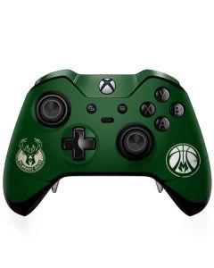 Milwaukee Bucks Green Distressed Xbox One Elite Controller Skin
