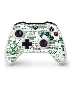 Milwaukee Bucks Historic Blast New Xbox One S Controller Skin