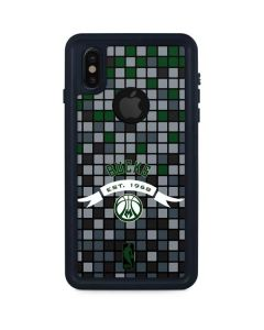 Milwaukee Bucks Pixels iPhone XS Waterproof Case