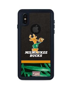 Milwaukee Bucks Retro Palms iPhone XS Waterproof Case