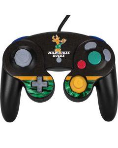Milwaukee Bucks Retro Palms Nintendo GameCube Controller Skin