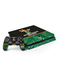 Milwaukee Bucks Retro Palms PS4 Slim Bundle Skin