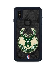 Milwaukee Bucks Rusted Dark iPhone XS Waterproof Case
