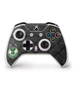 Milwaukee Bucks Rusted Dark Xbox One S Controller Skin