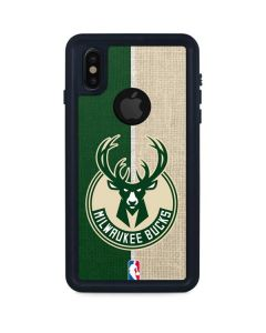 Milwaukee Bucks Split Canvas iPhone XS Waterproof Case