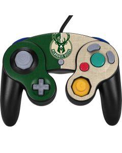 Milwaukee Bucks Split Canvas Nintendo GameCube Controller Skin