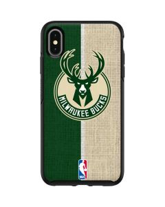 Milwaukee Bucks Split Canvas Otterbox Symmetry iPhone Skin