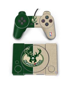 Milwaukee Bucks Split Canvas PlayStation Classic Bundle Skin