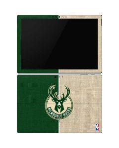 Milwaukee Bucks Split Canvas Surface Pro 6 Skin