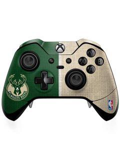 Milwaukee Bucks Split Canvas Xbox One Elite Controller Skin