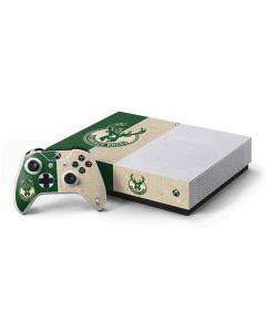 Milwaukee Bucks Split Canvas Xbox One S All-Digital Edition Bundle Skin