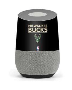 Milwaukee Bucks Standard - Black Google Home Skin