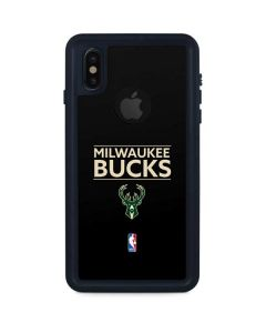 Milwaukee Bucks Standard - Black iPhone XS Waterproof Case