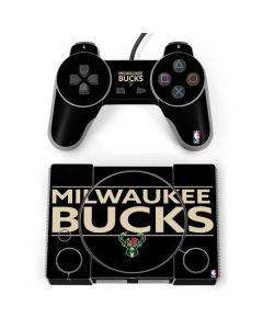 Milwaukee Bucks Standard - Black PlayStation Classic Bundle Skin