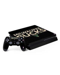 Milwaukee Bucks Standard - Black PS4 Slim Bundle Skin