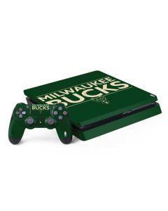 Milwaukee Bucks Standard - Green PS4 Slim Bundle Skin