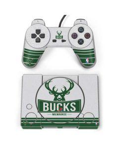 Milwaukee Bucks Static PlayStation Classic Bundle Skin