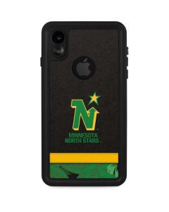 Minnesota North Stars Retro Tropical Print iPhone XR Waterproof Case