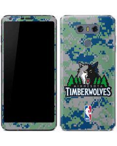 Minnesota Timberwolves Digi Camo LG G6 Skin