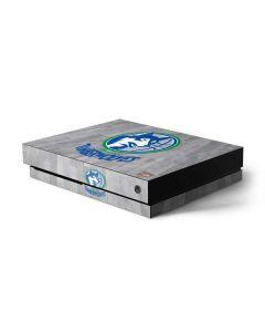 Minnesota Timberwolves Hardwood Classics Xbox One X Console Skin