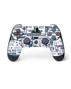 Minnesota Timberwolves Historic Blast PS4 Controller Skin