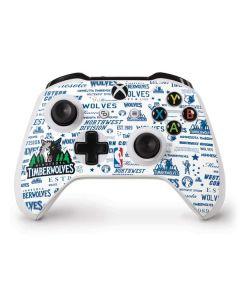Minnesota Timberwolves Historic Blast Xbox One S Controller Skin