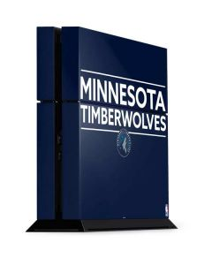 Minnesota Timberwolves Standard - Navy Blue PS4 Console Skin