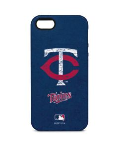 Minnesota Twins - Solid Distressed iPhone 5/5s/SE Pro Case
