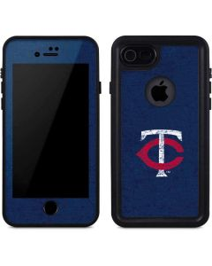 Minnesota Twins - Solid Distressed iPhone 7 Waterproof Case