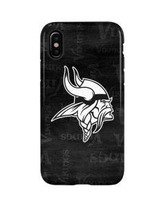 Minnesota Vikings Black & White iPhone X Pro Case