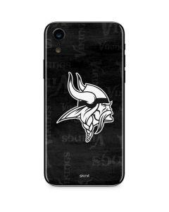 Minnesota Vikings Black & White iPhone XR Skin