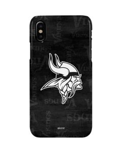 Minnesota Vikings Black & White iPhone XS Max Lite Case