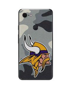 Minnesota Vikings Camo Google Pixel 3 XL Skin