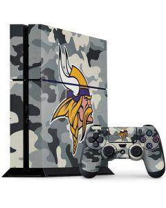 Minnesota Vikings Camo PS4 Console and Controller Bundle Skin