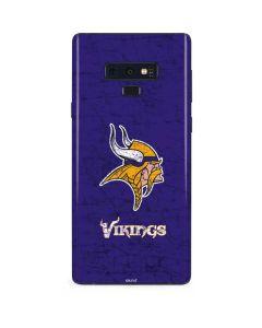 Minnesota Vikings Distressed Galaxy Note 9 Skin