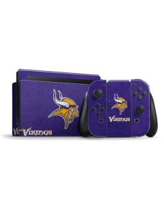 Minnesota Vikings Distressed Nintendo Switch Bundle Skin