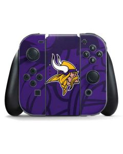 Minnesota Vikings Double Vision Nintendo Switch Joy Con Controller Skin
