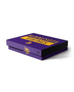 Minnesota Vikings Purple Performance Series Xbox One X Console Skin
